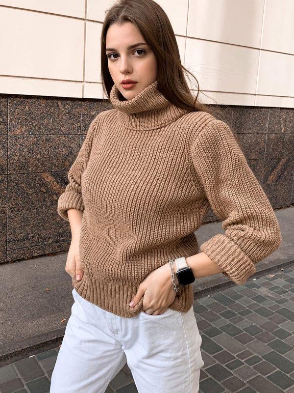 купить горчичный свитер оверсайз