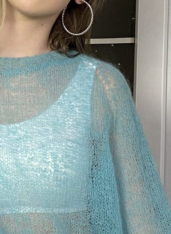 свитер раутинка большого размера купить бирюзовый