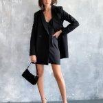 Черный пиджак женский, оверсайз хорошего качества