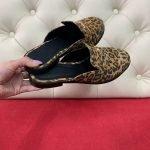 Мюли леопард женские замшевые