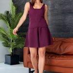 Костюм с шортами и майкой женский летний цвета марсала хлопок- вязка