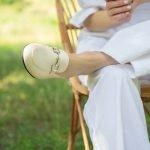 Белые брюки палацо женские из льна на широкой кулиске с карманами