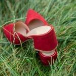 С чемносить мюли замшевые, красные
