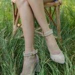Туфли босоножки нюдовые замша купить