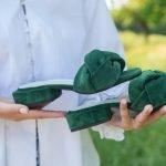 Что такое мюли обувь- зеленые с плетением