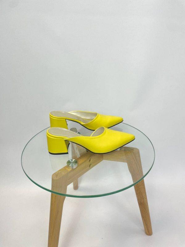 Желтые мюли купить в интернет магазине женской обуви