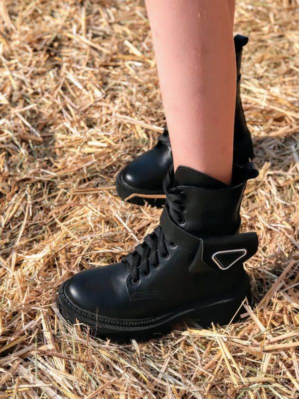 Ботинки в стиле прада с кошельком зима
