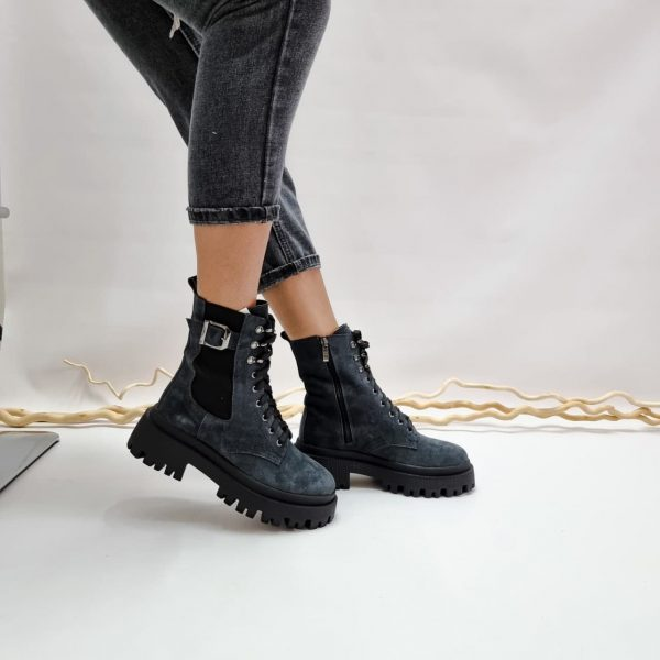Ботинки на грубой подошве купить замшевые