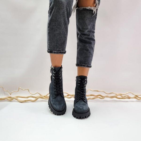 Ботинки серые замшевые купить